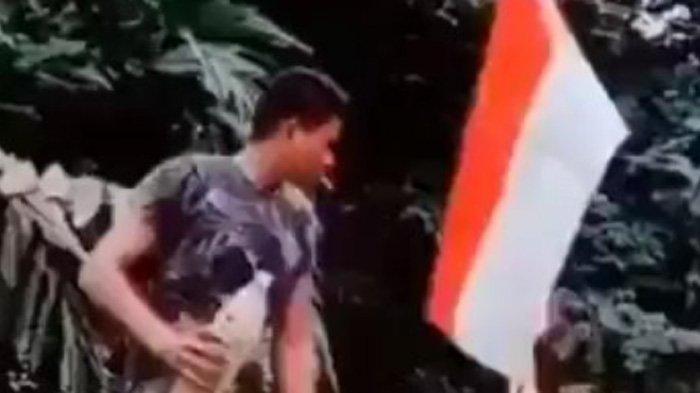 Viral Pria Bakar Merah Putih, Polisi Ungkap Identitasnya: Diduga Warga Aceh, Tinggal di Malaysia