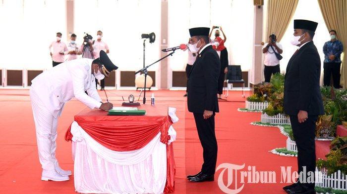 Berita Foto: Gubernur Sumatera Utara Edy Rahmayadi Melantik Wakil Wali Kota Binjai
