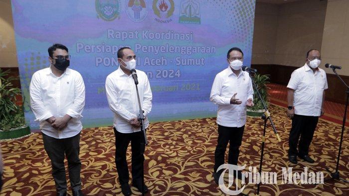 Berita Foto: PON XXI Direncanakan 65 Cabor Dengan Pembagian Sementara 33 di Aceh dan 32 di Sumut