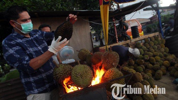 WAJIB Dicoba, Durian Bakar Pertama di Kota Medan, Jadi Kuliner Alternatif yang Ramah untuk Perut