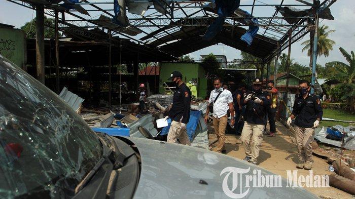 Berita Foto: Pascaledakan Bengkel Las di Tandam Hulu Mengakibatkan Tiga Korban Meninggal Dunia