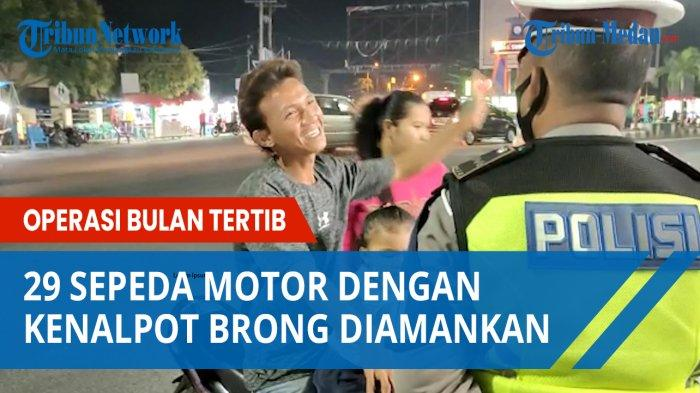 Operasi Bulan Tertib, 29 Sepeda Motor Dengan Kenalpot Blong Diamankan Satlantas Polres Asahan