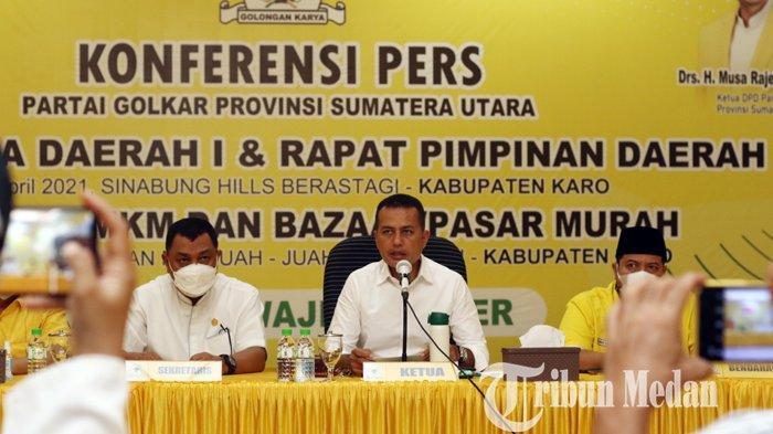 Berita Foto: Partai Golkar Sumut Segera Menggelar Pelaksanaan Rakerda dan Rapimda di Kabupaten Karo