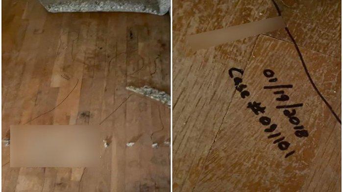 Baru membeli rumah tua, seorang wanita sangat ketakutan dan terkejut saat membalik karpet di ruang tamu.