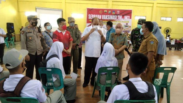 Vakisinasi Covid-19, Walikota Tebing Tinggi Terima Kasih kepada TNI/POLRI dan Perhimpunan INTI
