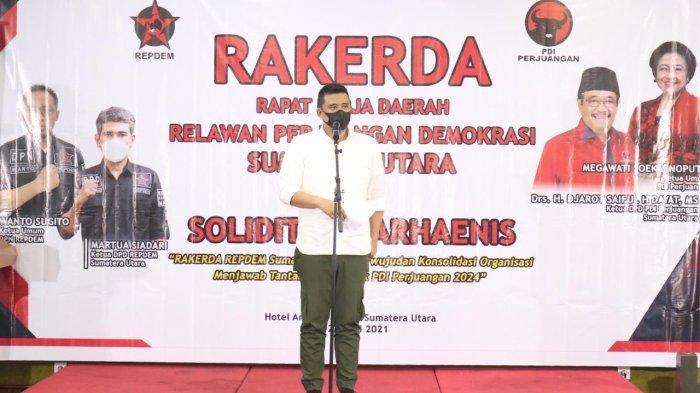 Bobby Nasution Paparkan Pentingnya Penggunaan Digitalisasi di Rakerda Repdem Sumut