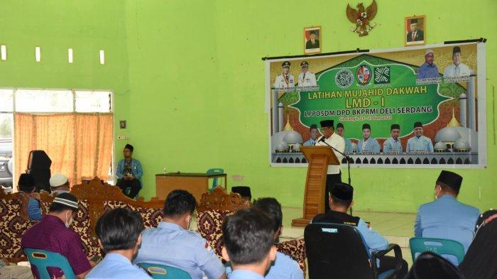 Wabup HMA Yusuf Siregar Buka Latihan Manajemen Dakwah (LMD) I DPD BKPRMI Kabupaten Deli Serdang