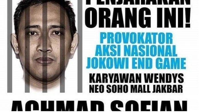 Mengecurut Sosok Ahmad Sofian Provokator Aksi Jokowi End Game, Kini menghilang dan Dicari Polisi