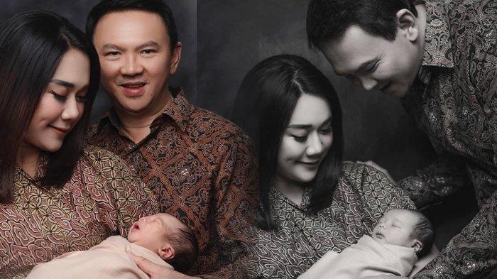 Ahok bersama Puput dan anaknya