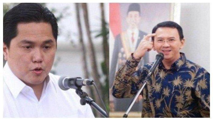 Setelah Mengamuk, Ahok Bertemu Menteri BUMN Erick Thohir, Kritik dan Sarannya Diterima, Ahok Menang?