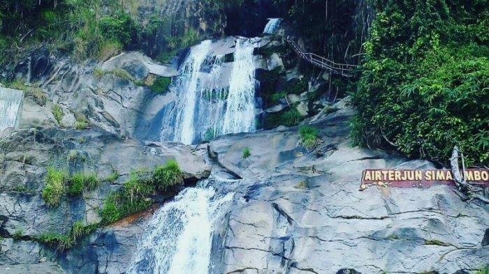 Pesona Air Terjun Simanimbo, Turun dari Atas Tebing dan Mengalir Langsung ke Bendungan Sigura-gura