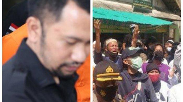 Kolase foto AKBP Jean Calvijn Simanjuntak (kiri) dan Laskar FPI (kanan)