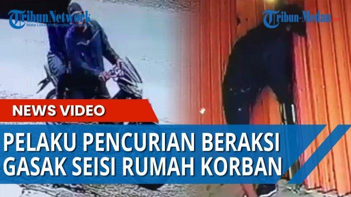 Pembobolan Ruko di Medan Terekam CCTV, Pelaku Hanya Butuh 8 Detik Bobol Gembok Besi dan Menggasak TV