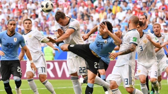 Rusia Akhirnya Tumbang, Tuan Rumah Piala Dunia 2018 Dipermalukan Uruguay