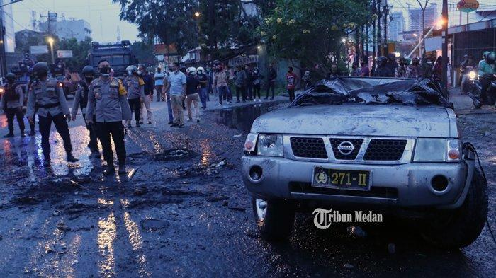 Bakar Mobil Polisi Pembawa Kantung Darah, Warga Desa Helvetia Ini Dituntut 2 Tahun Penjara