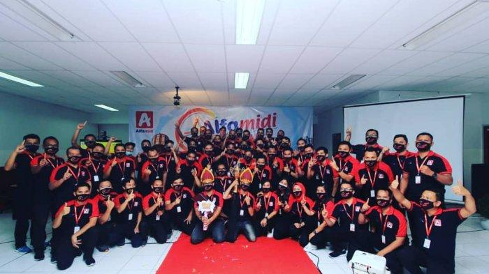 Alfamidi cabang Medan menyelenggarakan kegiatan National Operation Meeting (NOM) 2021 di kantor cabang di Jalan MG Manurung No.8A Medan yang dilaksanakan secara online.