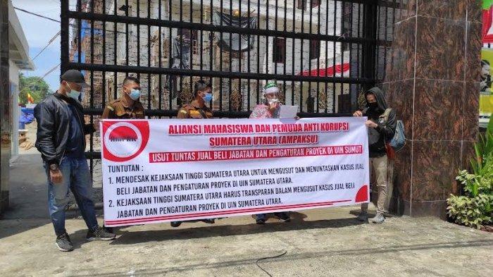 MAHASISWA Minta Kejaksaan Usut Dugaan Jual Beli Jabatan dan Proyek di UIN Sumatera Utara