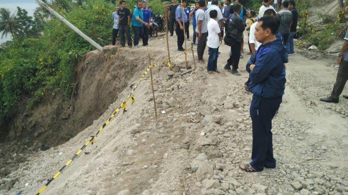 Jalan Tigaras kembali Amblas, JR Langsung Minta Pengerjaan