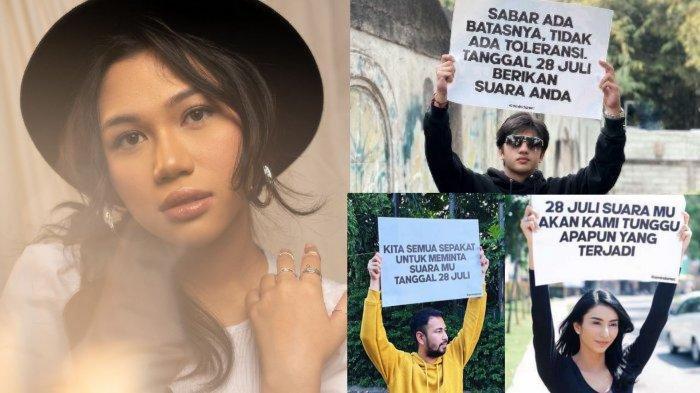 Para Artis Kompak Turun ke Jalan 28 Juli, Siapa Sosok Amindana Chinika, Dul : Kami Sudah Lelah