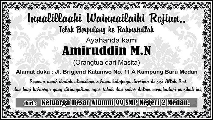 BERITA DUKACITA: Telah Berpulang ke Rahmatullah Amiruddin M.N