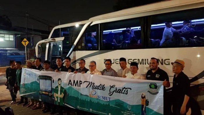Peserta AMP Mudik Gratis Bersama Bank Sumut Tiba di Sibuhuan