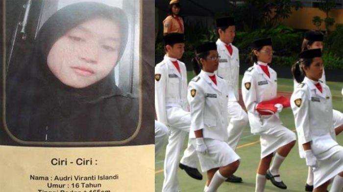 Akhirnya Siswi Paskibra Audri Ditemukan, Sebulan Hilang Ternyata Kabur ke Malaysia, Ini Alasannya