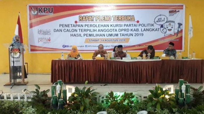 KPU Langkat Tetapkan 50 Anggota DPRD Terpilih, Partai Golkar Raih 10 Kursi