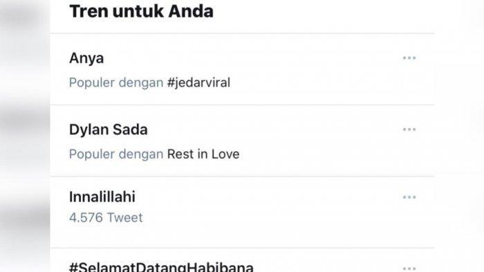 Anya Geraldine trending di twitter