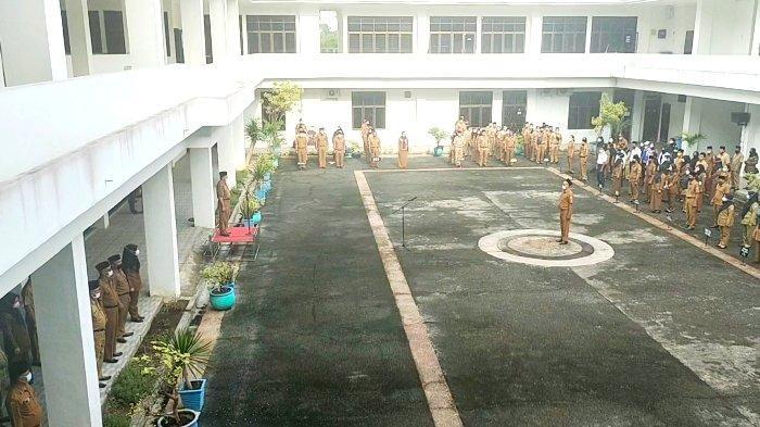 Suasana Apel Pagi Pemko Tanjungbalai Setelah Wali Kota Ditangkap KPK, Berikut Kondisinya