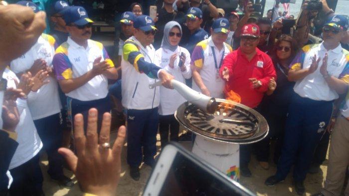 Sambangi Danau Toba, PJ Gubernur Berharap Api Asian Games Kembali Dongkrak Wisatawan