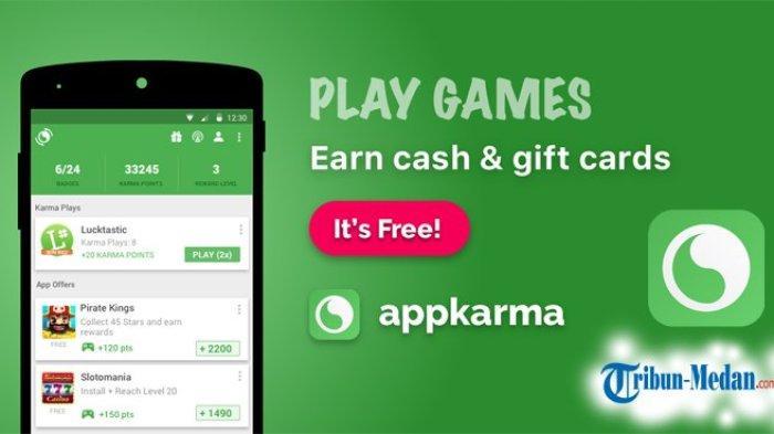 Aplikasi Penghasil Uang appKarma Rewards & Gift Cards, Dapat Dollar hanya dengan Menonton
