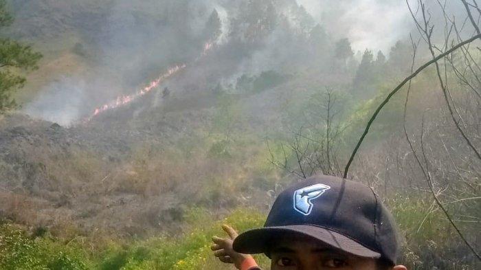 Lima Hektare Hutan Kaldera Toba di Silahisabungan Dairi Terbakar