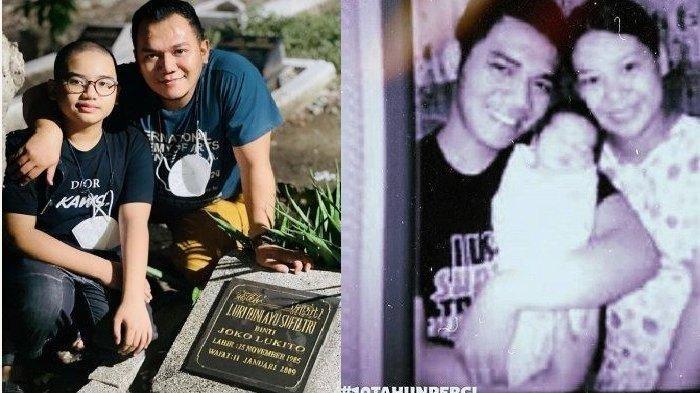 Rasakan Pedihnya Kehilangan Istri, 12 Tahun Berlalu Penyanyi Ini Ziarah ke Makam Bawa Anak: Kangen