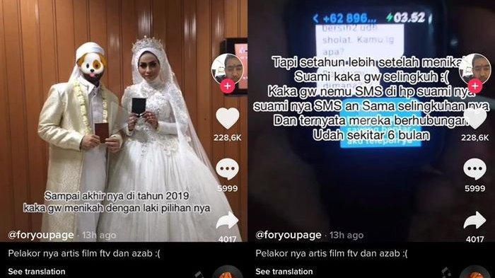 Artis Pemain Sinetron Azab Ini Dituding Jadi Pelakor, Diduga Sudah 6 Bulan Pacari Suami Orang