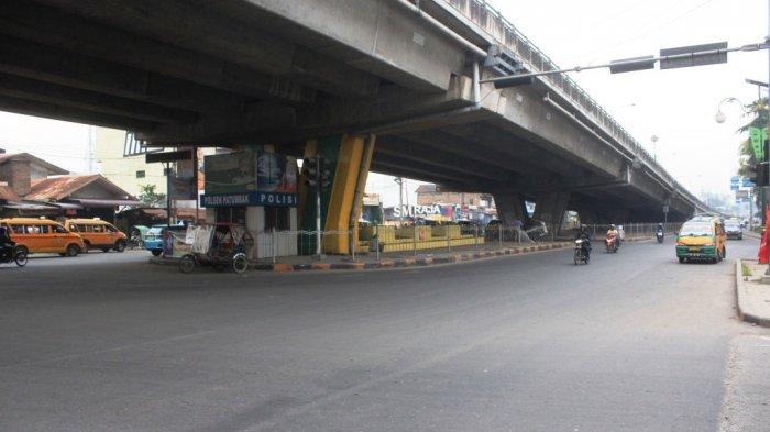 Arus Lalu Lintas di Simpang Amplas Lancar