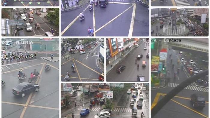 Hujan, Situasi Lalu Lintas di Kota Medan Padat Merayap