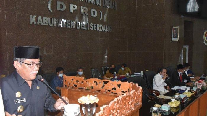 Wabup Ali Yusuf Siregar Sampaikan Ranperda Pertanggungjawaban APBD 2020 ke DPRD Deli Serdang