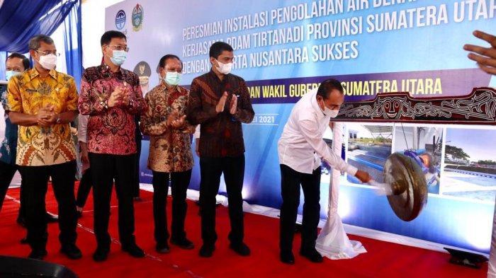 Tambah Produksi Air Bersih, Gubsu Edy Resmikan IPA Denai di Kecamatan Medan Denai