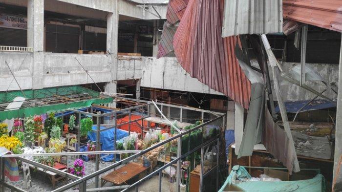 Atap Pusat Pasar Medan Ambruk Diterpa Angin Kencang, Kepala Pusat Pasar: Kami Langsung Perbaiki