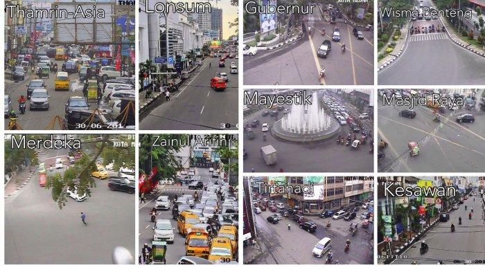 Arus Lalu Lintas di Kota Medan Sore Hari Padat Merayap