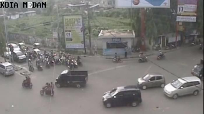 Arus Lalu Lintas di Kota Medan Ramai Lancar