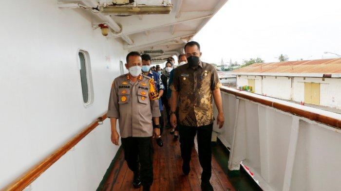 Tinjau Isoter Terapung, Wakil Wali Kota Medan Ingatkan OPD Bekerja sama, Jaga Kebersihan di Kapal