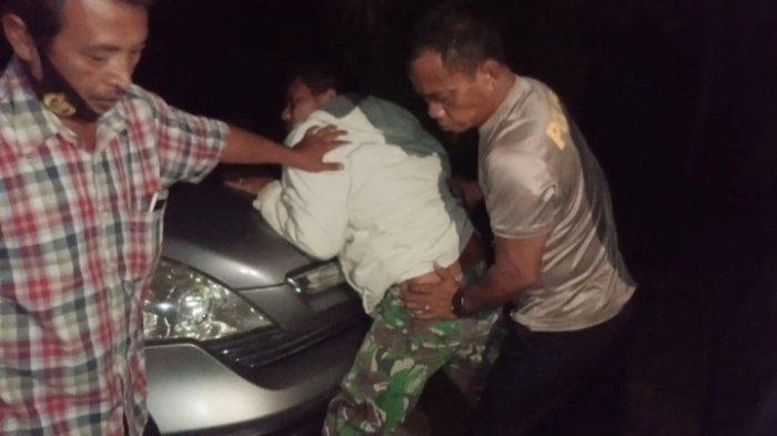 Ayah bejat di Deliserdang saat ditangkap polisi