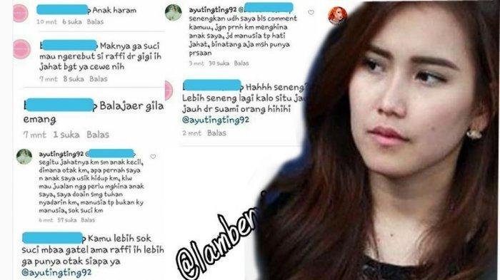 Ayu Ting Ting balas komentar netizen di akun instagramnya. (Instagram)