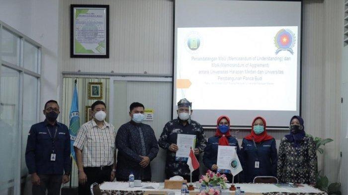 Kolaborasi Sister University, UnHar dan UnPab Lakukan Penandatanganan MoU dan MoA