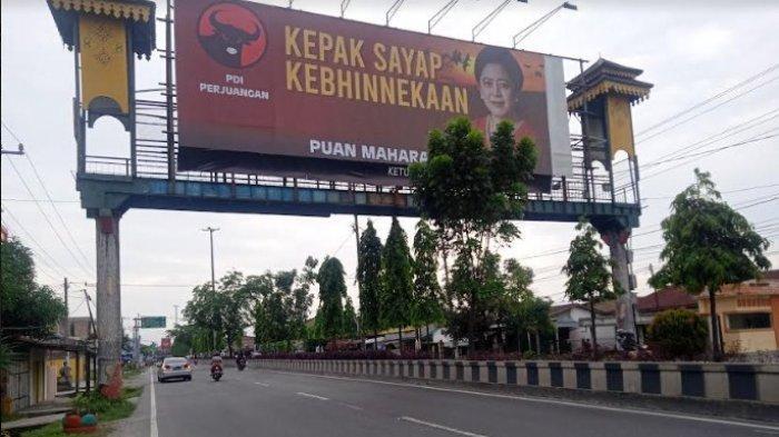 BALIHO Besar Bergambar Puan Maharani di Jembatan Penyeberangan Lubukpakam, Ini Kata PDI Perjuangan