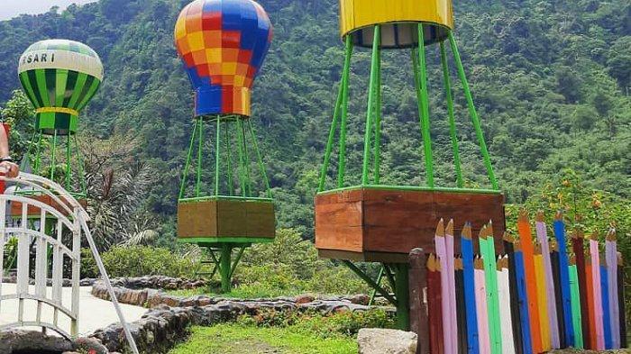 Wisata Pemandian Alam Babarsari Lau Kulap, Ada Spot Balon Udara dan Miniatur Rumah Belanda