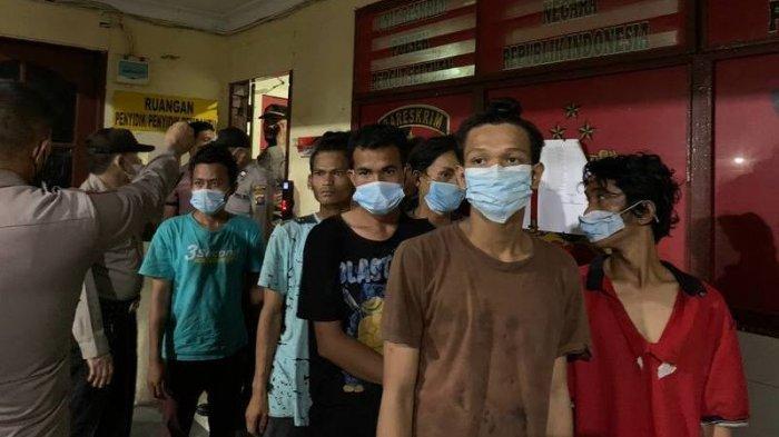 Kejahatan Marak di Sekitar Pintu Tol Bandar Selamat, Polisi Tangkap 8 Bandit