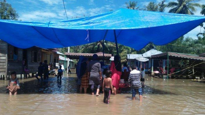 Banjir Rendam Sejumlah Rumah di Tapanuli Selatan, BPBD Bilang Memang Langganan