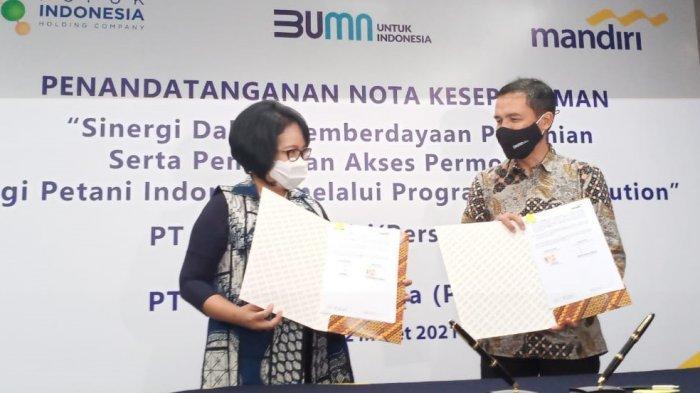 Berikan Akses Modal Bagi Petani, Bank Mandiri Dukung Program Agro Solution Pupuk Indonesia